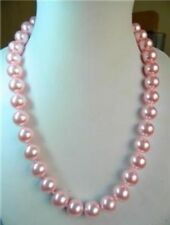 20inch  Pretty 10mm PINK south sea shell pearl necklace AAA+