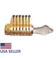 Cutaway Lock Locksmith Practice and Training 6 Pin Schlage Brass Cylinder Pick