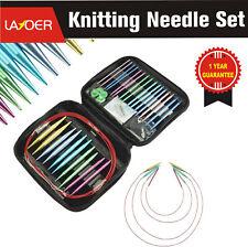 Layoer Interchangeable Knitting Needle Set 13 Sizes Aluminum Circular 2.7mm-10mm