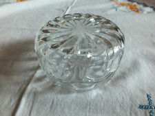 Collectible Signed Trinket Jewlery Bx Lid Italy Covelro Clear Glass NICE