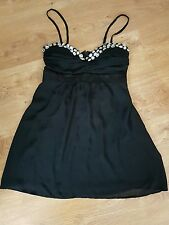 BNWT* POP COUTURE * DRESS,10-12(UK), BLACK  EMBELLISHED SHORT PROM PARTY DRESS,M