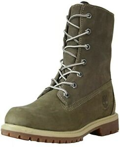 NIB WOMEN'S TIMBERLAND AUNTHENTICS FLEECE BOOT/TAUPE/ SIZE 10 21691