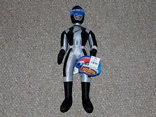 """Disney Store Power Rangers Overdrive 16"""" Black Ranger Plush Doll New with Tags"""