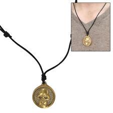 Somber Eternity Skull Brass Pirate Demon Pendant Necklace