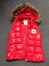 Limited Too Red Vest Fur Trim On Hood Removable Hoodie Size 16