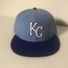 Kansas City Royals New Era 59FIFTY Fitted Hat Size 7 1/8 Light Blue MLB On-Field