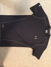 Under Armour Heat Gear Fitted Shirt Black Short Sleeve Mens Small