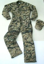 Gander Mountain Backland Camo Men's Small Reg 36-38 Insulated Coverall Suit +Hat