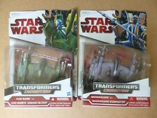 COOL NEW LOT OF 2 STAR WARS TRANSFORMERS CAD BANE & MAGNAGUARD DELUXE FIGURES