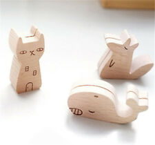 FD3897 Wood Adorable Animal Message Holder Memo Holder Clip Picture Table Decor