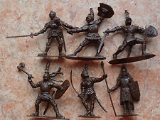 """!!! Toy soldiers miniature KNIGHTS set 6 figures Made in Russia 2,5"""""""