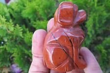 Carved Dog Red Jasper Crystal sitting Carving Healing Natural stabilising  aura