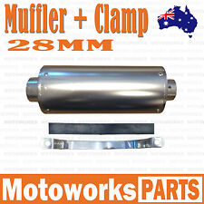 28mm Exhaust Muffler +Clamp 90cc 110cc 125cc 140c PIT Trail Quad Dirt Bike ATV 1
