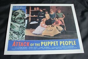 """LOBBY CARD POSTER. 1958 Sci-Fi/Horror 'Attack of the Puppet People' 11.5"""" x 9.5"""""""
