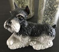 Vintage Schnauzer Dog Lefton Gray and Black Bank Figurine