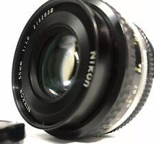 "EXC++++ NIKKOR 50mm F1.8 AI-S AIS MF LENS VER. JAPAN  ""0.45M"" FOR NIKON F MOUNT"