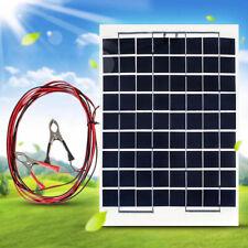 12V 10W Panel Solar Policristalino Polycrystalline Solar Panels+ Clips+ 4M Cable