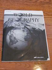 A Beka 9th Gr. - World Geography - Test/Quiz Key (1998)