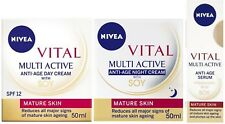 Nivea VITAL Anti Aging with SOY Trio - DAY + NIGHT + SERUM