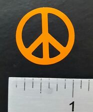 "Lot of 12 1"" ORANGE PEACE SIGNS  decals or stickers vinyl cut, car, laptop,  ect"
