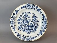 Antique Dutch Delft Chinoiserie Charger, 18th-Century Faience