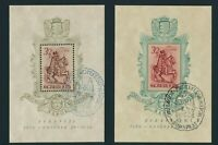 HUNGARY 1939, block 5-6 used with special cancellation!! Mi, 100,-€ |A20379