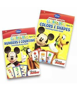 Mickey Mouse Clubhouse Learning Card Games Bundle - Numbers + Counting & Colors