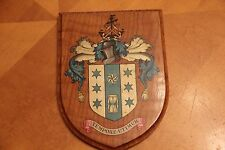 Coat of Arms Greenwich London Signed By Harry Ingle Mayor 1952-53  Old And RARE