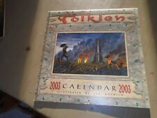 TOLKIEN CALENDAR 2003 Lord of the Rings TED NASMITH Fantasy Art THE TWO TOWERS