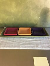 Pampered Chef Simple Additions Condiment Bowls & Tray EUC