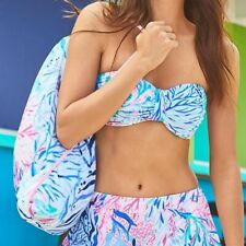 Lilly Pulitzer NWT GWP Towel Backpack Crew Blue Kaleidoscope Coral 👙⛱🏝🌤☀️⛵️⚓️