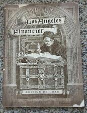 Los Angeles Financier - American Bankers' Assn. Convention - 1910