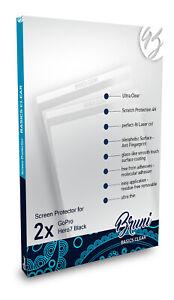 Bruni 2x Folie für GoPro Hero7 Black Schutzfolie Displayschutzfolie