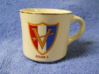 VINTAGE BSA BOY SCOUTS OF AMERICA REGION 5  PORCELAIN CUP MUG