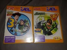 2 New iXL Games GREEN LANTERN 3D Lot TOY STORY 3 Set FISHER PRICE Ages 3-7