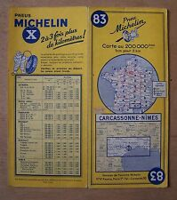 #) carte MICHELIN 83 CARCASSONNE - NIMES 1960