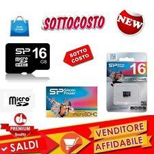 Memory Memoria Micro SD Microsd 16GB SDHC Classe garanzia ITALIA MP3 PDA PHONE