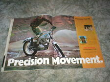 1974 HONDA TRIALS TL-125 Cycle ad  2 pg CENTERFOLD Original with Sammy Miller