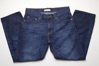 Banana Republic Premium Denim Womens Blue Jeans Size 31 x 27 Dark Wash Straight