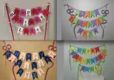 Any Name colourful personalised Cake Bunting -Rainbow Cake Topper Flags, Garland