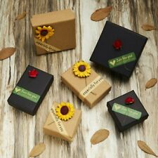 Sunflower Rose Xmas Gift Case For Ring Earrings Necklace Bracelet Jewellery Box