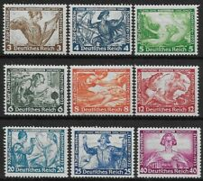 Germany 3rd Reich Wagner's Opera's 1933 Complete Set Mi#'s 499-507 MH *