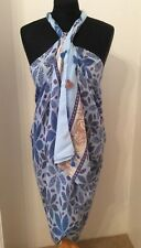 Blue Patterned Beach Wrap/Sarong