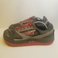 Altra Mens Sz 12 Grey Red Olypus 2.5 Gaiter Trap Running Shoes Vibram AFM1759F-2