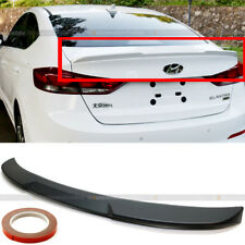 Fit 17-18 Hyundai Elantra Flush Type H Style Rear Trunk Deck Lip Wing Spoiler