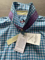 ROBERT GRAHAM KARO COTTON STRECH LIMITED MODERN COMFORT MENS HEMD SHIRT XXL