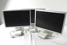 "Lot of 3 Apple Cinema Display A1081 20"" LCD Monitor M9177LL/A w/ Power Supply"