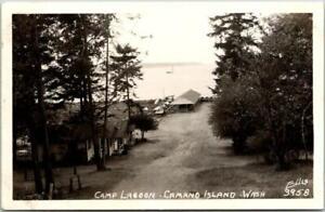 "CAMANO ISLAND, Washington RPPC Real Photo Postcard ""Camp Lagoon"" Ellis #3958"