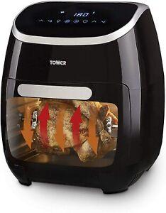 Tower T17039 Digital Air Fryer Oven, Digital Display, Black, New & Sealed