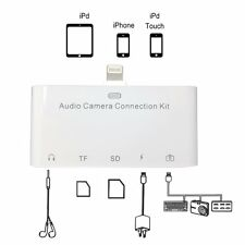 5in1 Lightning Audio camera connection kit TF SD card 3.5MM for Iphone 8 7 plus